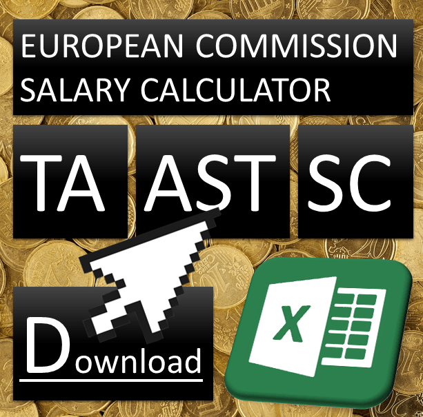 European Commission salary calculator for temporary agents, grades AD, AST and SC