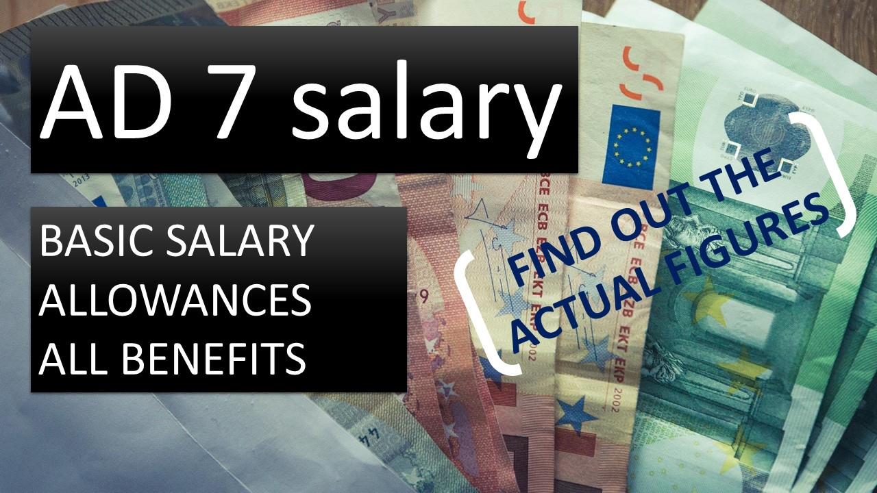 Salary and allowances of AD7 temporary agents