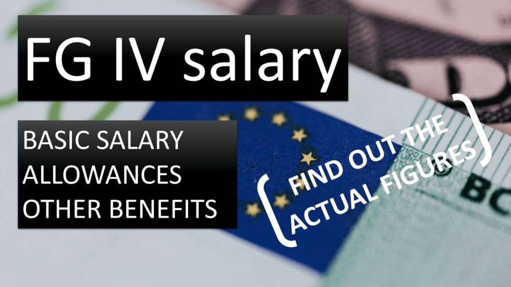 Salary of a European Commission contract agent, FG IV